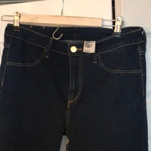 H&M skinny high waist ankle jeans